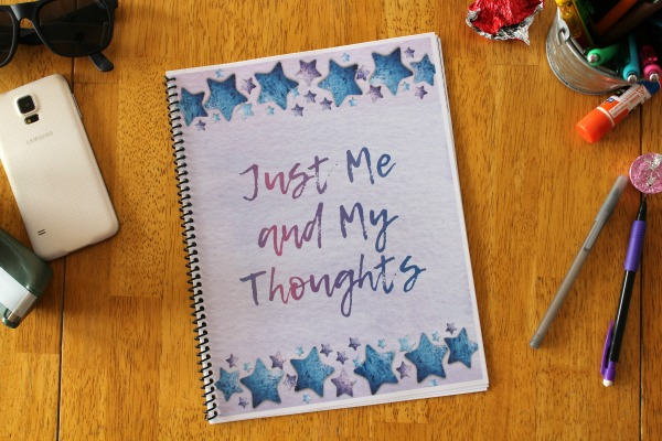 Just Me and My Thoughts writing journal for kids