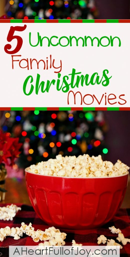 5 uncommon family Christmas movies that the whole family will love! Gather your family together for some uplifting entertainment this Christmas.