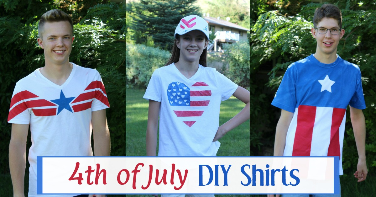 4th of July shirts for kids and teens.