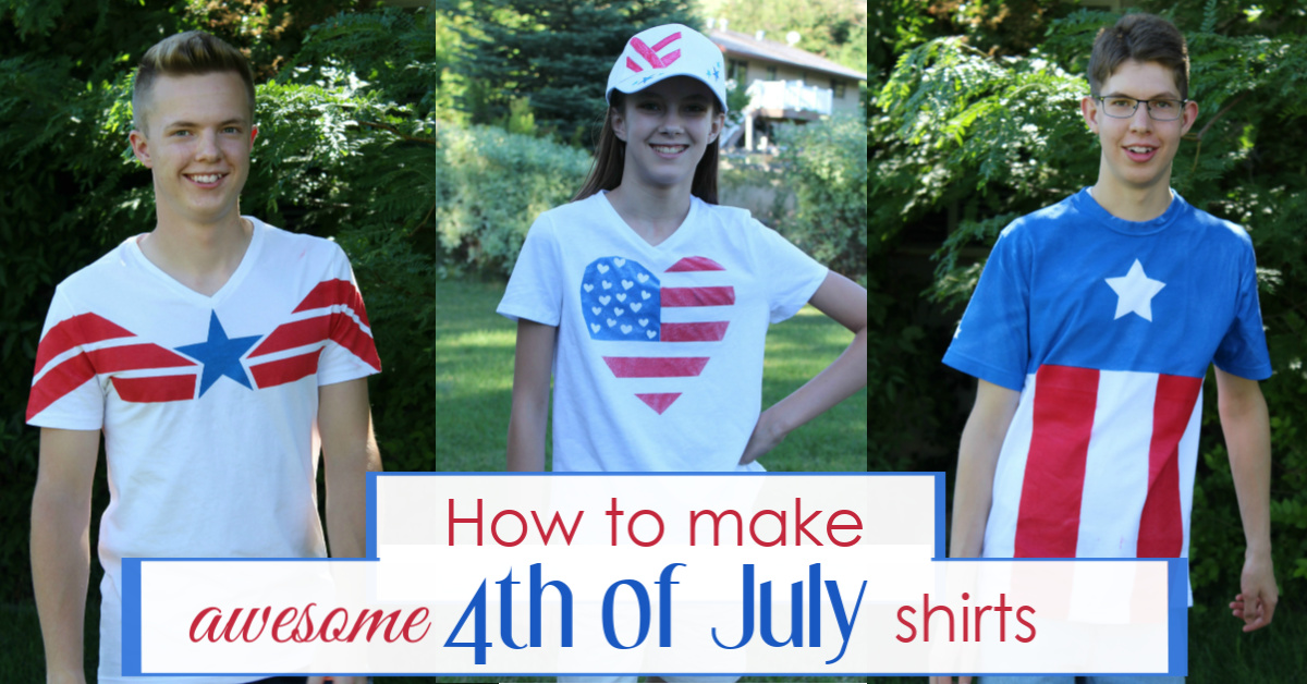 DIY 4th of July shirts for kids, teens, and family