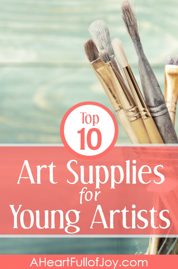 These are art supplies that really fit the needs a young person's desire to create, and support a variety of artistic interests. So fun! #artsupplies #top10artsupplies #youngartists