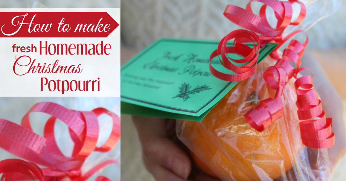 How to make fresh homemade Christmas potpourri