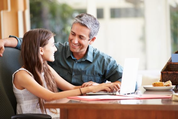 Father connects with daughter strengthening their relationship