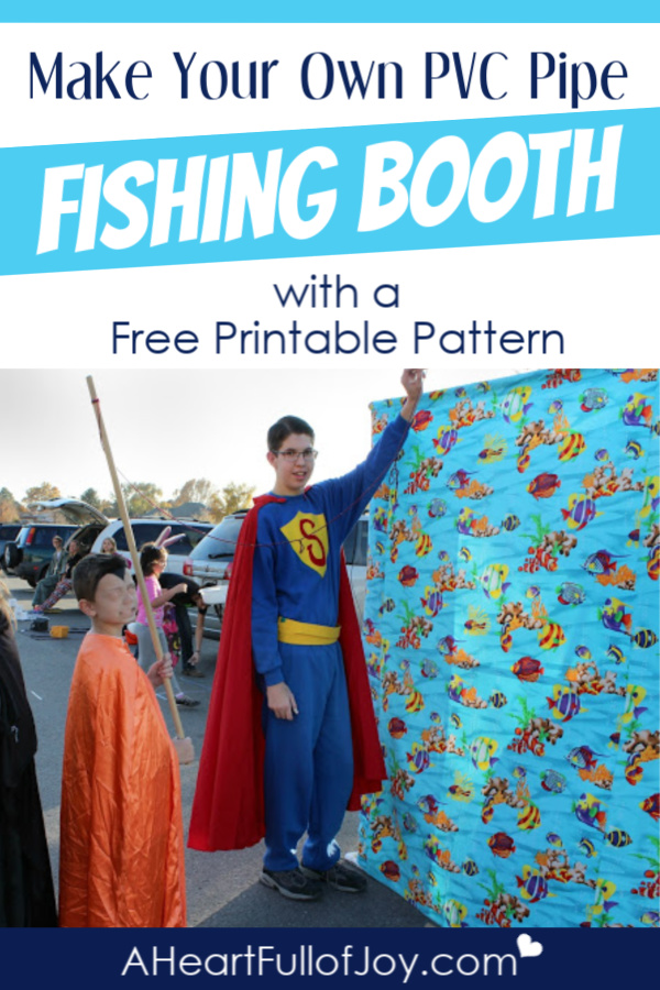Free printable pattern to make your own PVC Pipe Fishing Booth