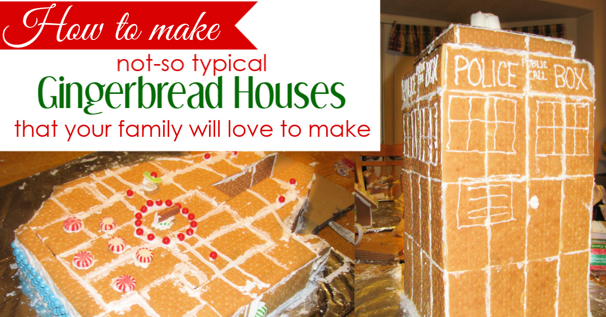 Learn how to make super fun, not-so typical gingerbread houses