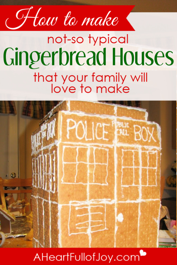 How to make super fun, not-so typical gingerbread houses