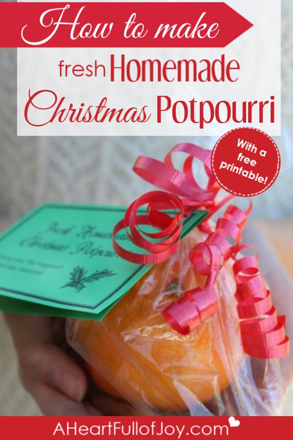 How to make fresh homemade Christmas potpourri