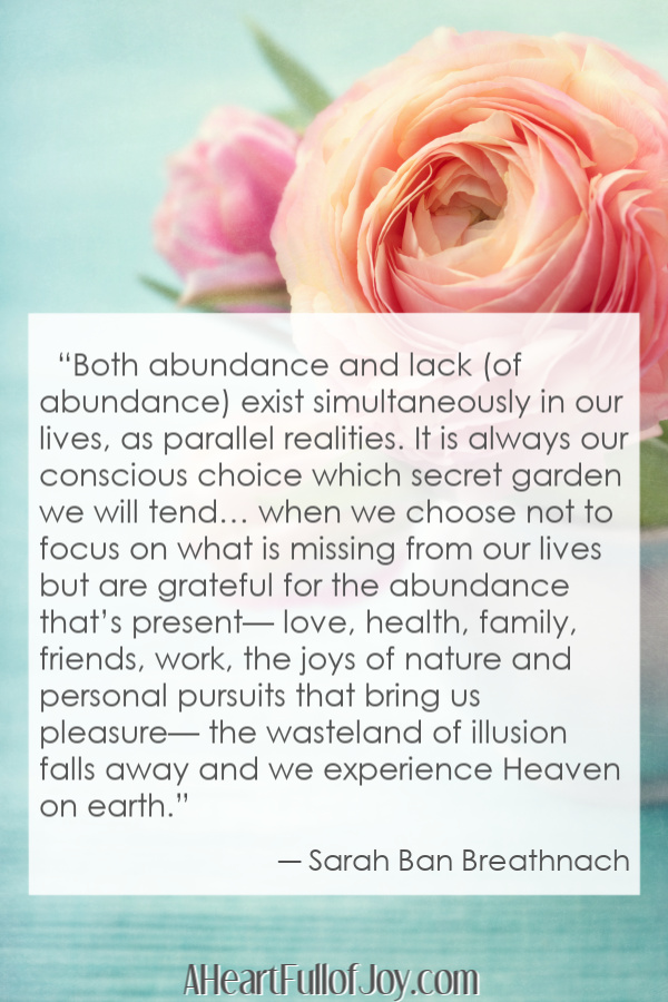 How to be Happy on Mother's Day quote - abundance and lack exist simultaneously