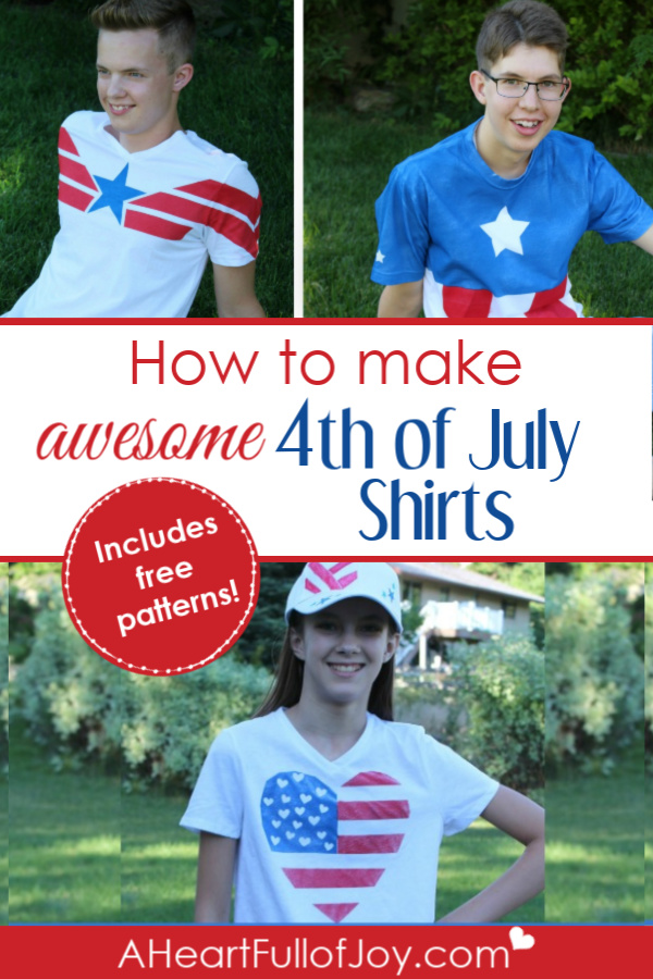 How to make DIY 4th of July shirts