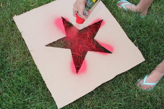 4th of July painted lawn stars outdoor decorations