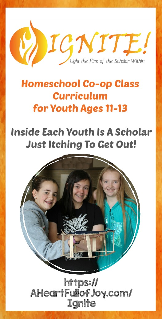Ignite! Homeschool Co-op Class Curriculum for youth age 11-13