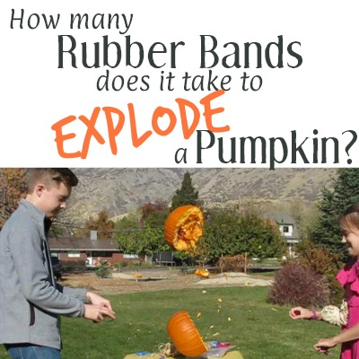 How Many Rubber Bands Does it Take to Explode a Pumpkin?