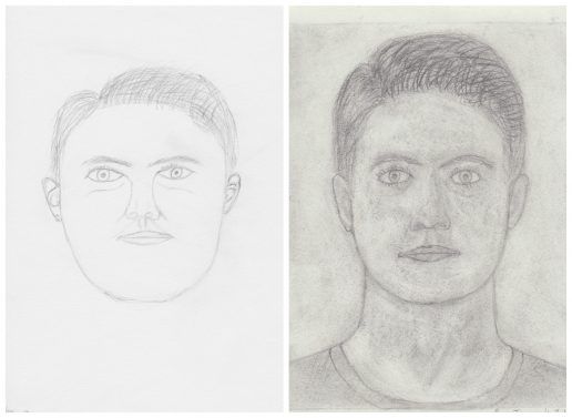 15 year old son's before and after drawings with Drawing on the Right Side of the Brain
