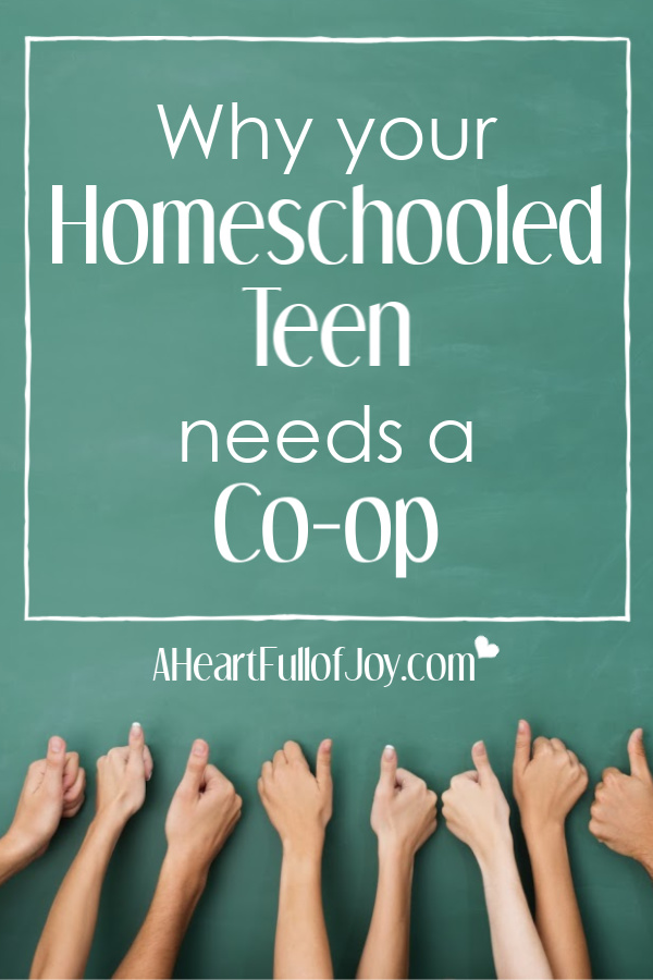 Homeschooled teens need a co-op