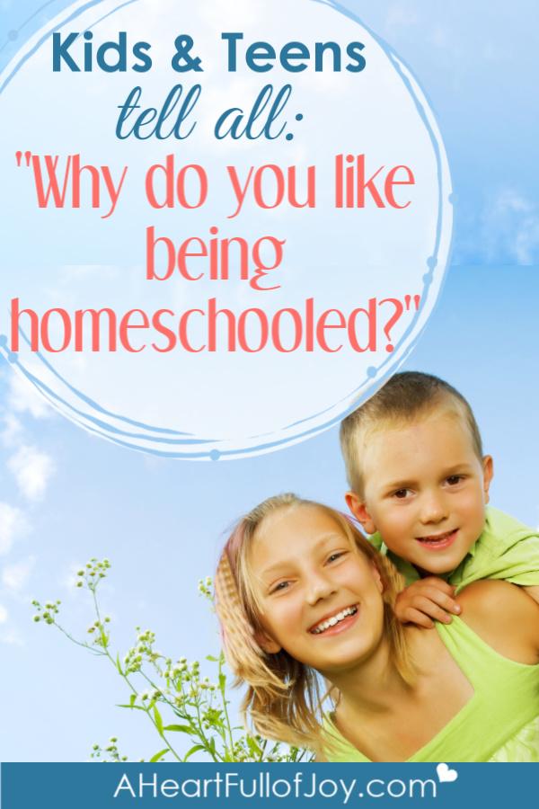 Why kids like being homeschooled