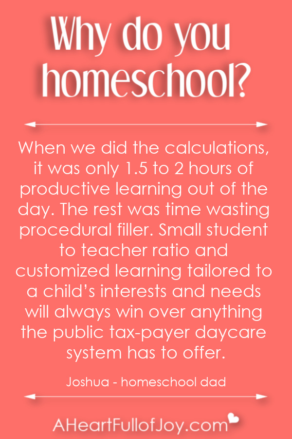 Why do people homeschool?