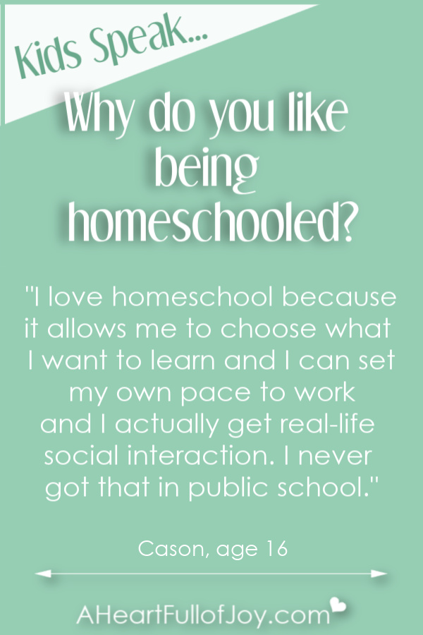 Hear why kids like being homeschooled