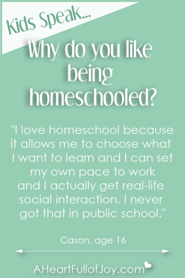 Hear why kids like being homeschooled