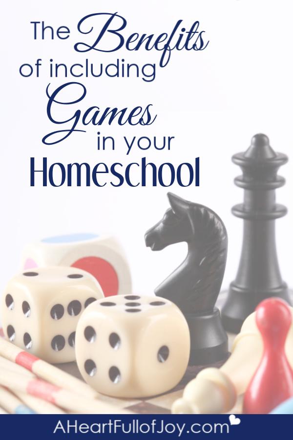 using games in homeschool