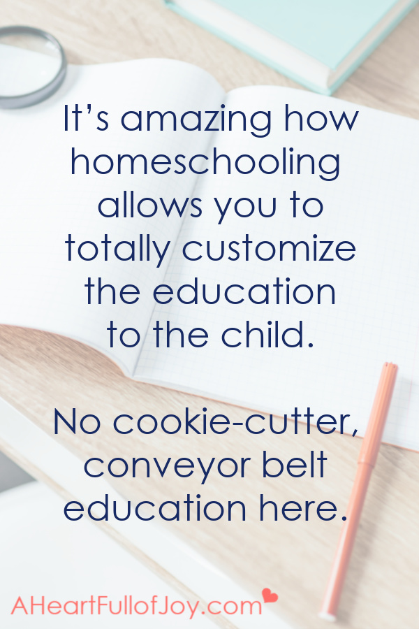 Homeschool is no cookie-cutter education