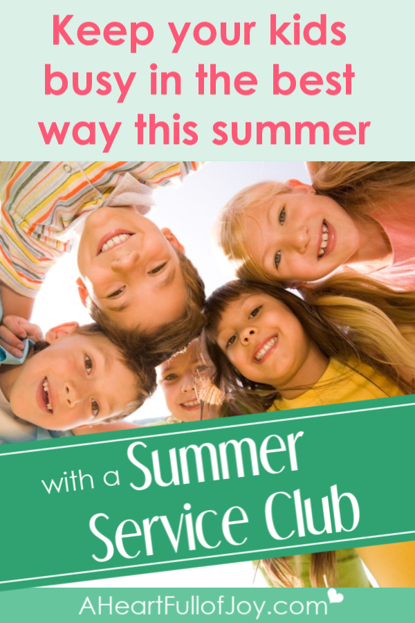 Keep kids busy in the best way this summer with a Summer Service Club