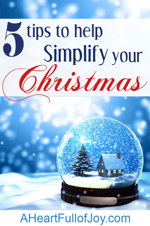 5 tips to help simplify your Christmas